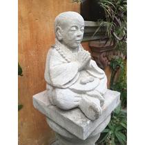 Escultura Niño De Tíbet Chico