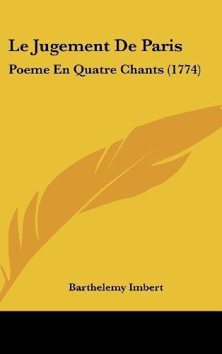 Le Jugement De Paris Poeme En Quatre Chants 1774 Barthel