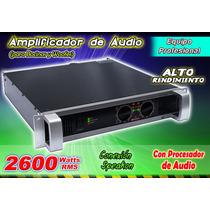 Amplificador Profesional Con Circuiteria Yamaha 2600w Xaris.