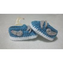 Zapatos Botas Sandalias Bebe Y Niños Tejido Crochet