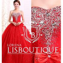 Vestido Debutante Festa Noiva Vermelho 15 Anos Pronta Entreg