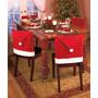 Nueva Navidad Rojo Santa Claus Sombrero Tapa Silla Cubre