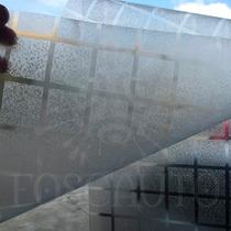 Adesivo Decorativo Jateado Quadrados Portas Blindex E Vidros