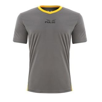 a06702645 Camiseta Pulse Grupo Everlast Cinza Detalhe Amarelo - R  34