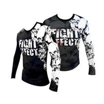 Remeras Mma Rashguard Caveira Fight Effect - Boxeo Kick Ufc