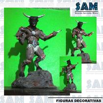 Minotauro Figura Decorativa En Resina Escultura