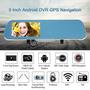 5 1080p Android Gps Espejo Retrovisor Coche Dvr Cámara
