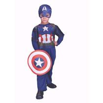 Disfraz Capitan America Marvel Disney Original Talle 0