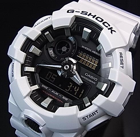 82ecd358c44 Relógio Casio G-shock Ga-700 Original Ga-700-7 Branco Em 12x - R ...