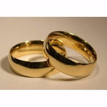 Argollas-- Matrimonios --acero -enchape 18 K-san Valentin