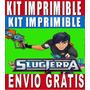 Kit Imprimible De Bajo Terra Para Diseñar Invitaciones