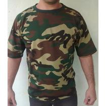 Camiseta Estampa Camuflada Esporte Camping Especial Exército
