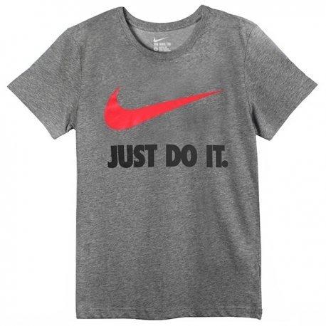 Camiseta Nike Just Do It Swoosh Cinza Original Infantil - R  69 fd4383cda9ff5