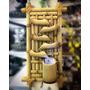 Fonte De Bambu De Parede 5 Quedas Decorativa Com Luz