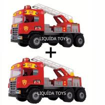 Kit 2 Caminhão Super Bombeiro - Magic Toys Frete Grátis!!