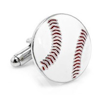 Mancuernillas Figura De Pelota De Beisbol Acero Gemelos