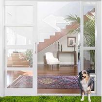Puerta Aluminio Para Perro Ideal Pet - Grande Color Aluminio