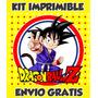 Dragon Ball Mega Kit Imprimible Invitaciones + Regalos