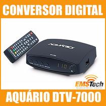 10 X Conversores Digitais Aquário Dtv-7000 Função Gravador
