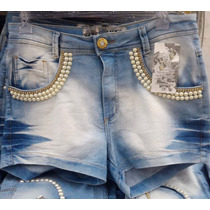 Short Jeans Grande Perola Barato Plus Size Hot Pant 44 A 54