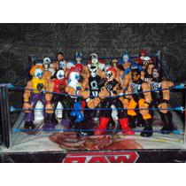 Ring De Lucha Libre + 4 Luchadores Mas Grande Que Los Mattel