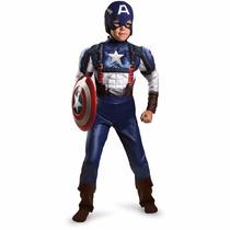 Disfraz Niño Capitan America Musculos Disguise Talla 10-12