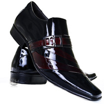 Promoção De Lançamento Sapato Verniz Social Masculino Couro!