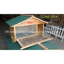 Conejera Casa Para Conejo Casa De Madera