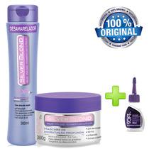 Kit Silver Blond Matizador Mascara Shampoo Desamarelador