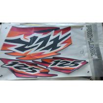Jogo Faixa Adesivos Xlr 125 1999 Azul