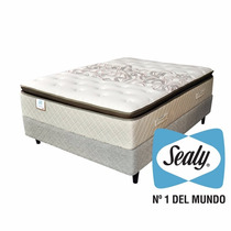 Colchón Y Sommier 140x190 Tilbury Sealy+pillow
