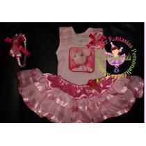 Vestido Fantasia Roupa Aniversário Luxo Angelina Ballerina
