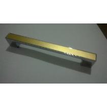 10 Puxador Metal Dourado Lindo 96mm