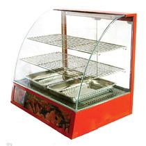 Vitrina 26pulg Buffet Comida Exhibidor Comercial Inoxidable
