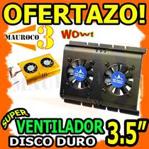 Wow Ventilador Para Disco Duro 3.5 Pc Fan Cooler Enfriador
