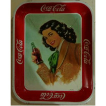 Antigua Charola De Coca-cola Con Una Charra