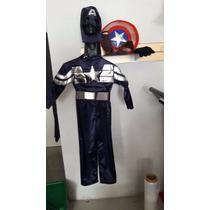 Disfraz Capitan America Niño Fiesta Super Heroe Marvel Escud