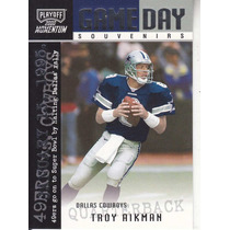 2000 Playoff Momentum Game Day Souvenirs Troy Aikman Cowboys