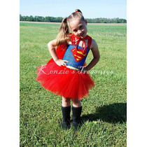Fantasia Super Girl Superman Infantil 3 A 5 Anos Exclusiva
