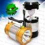 Lampiao Lanterna Solar Led Camping Bateria Recarregavel Usb