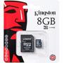 Memoria Micro Sd Hc 8 Gb Kingston Clase 4 Tienda Oficial
