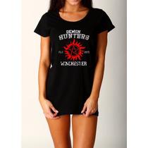 Camiseta Supernatural Novo Modelo Camisa Feminina