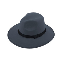 Sombrero Ala Ancha Vintage Hipster Funky Excelente Gris