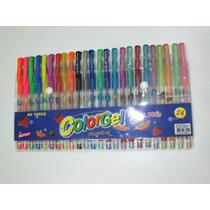 Canetinhas Colorgel Estojo 24 Unidades Glitter Cheiro Fruta