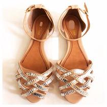 Rasteirinha Pedra Marca Leluel Shoes Inspiração Arezzo