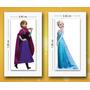 Vinil Calcomania 1 Metro Frozen Ana Elsa Full Color Sticker