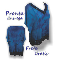 Blusa Kaftan Indiana Tye Dye Tamanho Grande Bata Plus Size