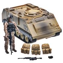 Tanque De Guerra M113 C/ Soldado Conductor Armas Elite Force