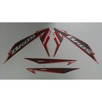 Kit Adesivos Honda Nxr 150 Bros Es Mix 2011 Vermelha