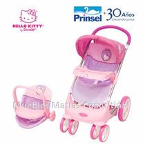 Carriola Con Porta Muñecas Bebe Hello Kitty Prinsel